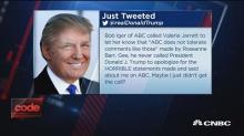 Trump tweets about 'Roseanne' cancellation