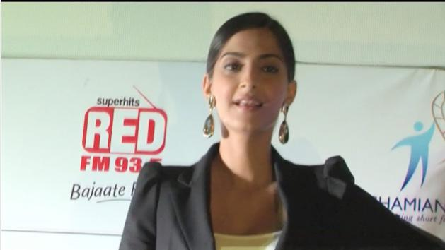 Spotted Sonam Kapoor Promoting Short Films with DNA