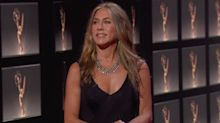 Jennifer Aniston prepped for the Emmys in pyjamas and a sheet mask