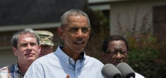 Obama defends Louisiana flood response