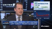 IAC CEO shrugs off dating app threat from Facebook