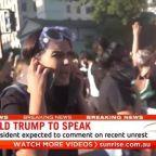 Australia raises concern over assault on news team at Washington DC protest