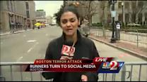 Runners turn to social media after Boston attack