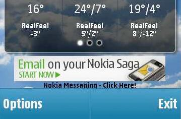 Nokia 'Saga' accidentally outed in AccuWeather ad? (update: nope, it's just the N97 Mini)