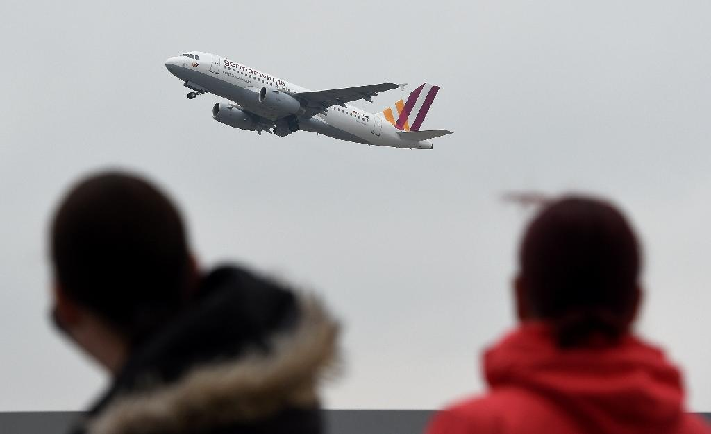 An Airbus A313 operated by low-cost German airline Germanwings takes off at the Duesseldorf airport on March 25, 2015