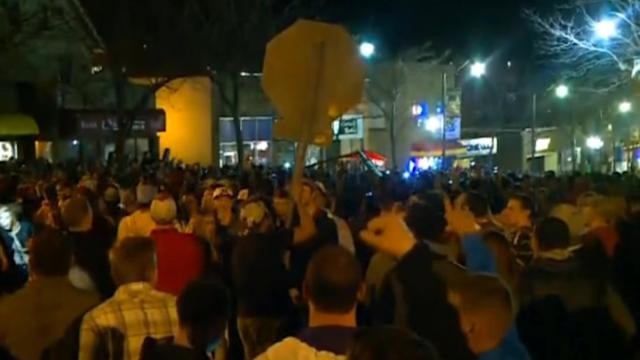 Student celebration in Iowa turns into chaos