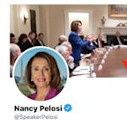 Nancy Pelosi took a photo that Trump tweeted to accuse her of having a 'meltdown' and made it her cover photo