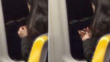 'Revolting!': Woman filmed clipping fingernails on train