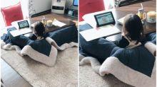 日本小妹妹創意「坐暖桌」方法 暖住睇片超爽Twitter熱傳