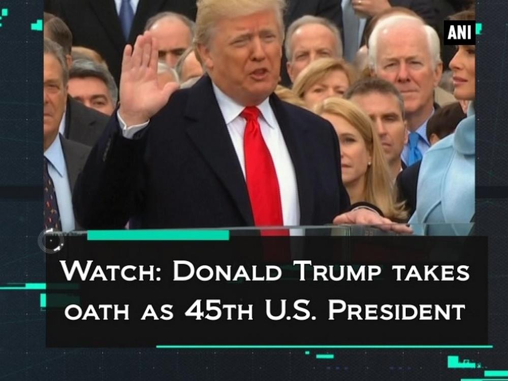 Watch: Donald Trump takes oath as 45th U.S. President [Video]
