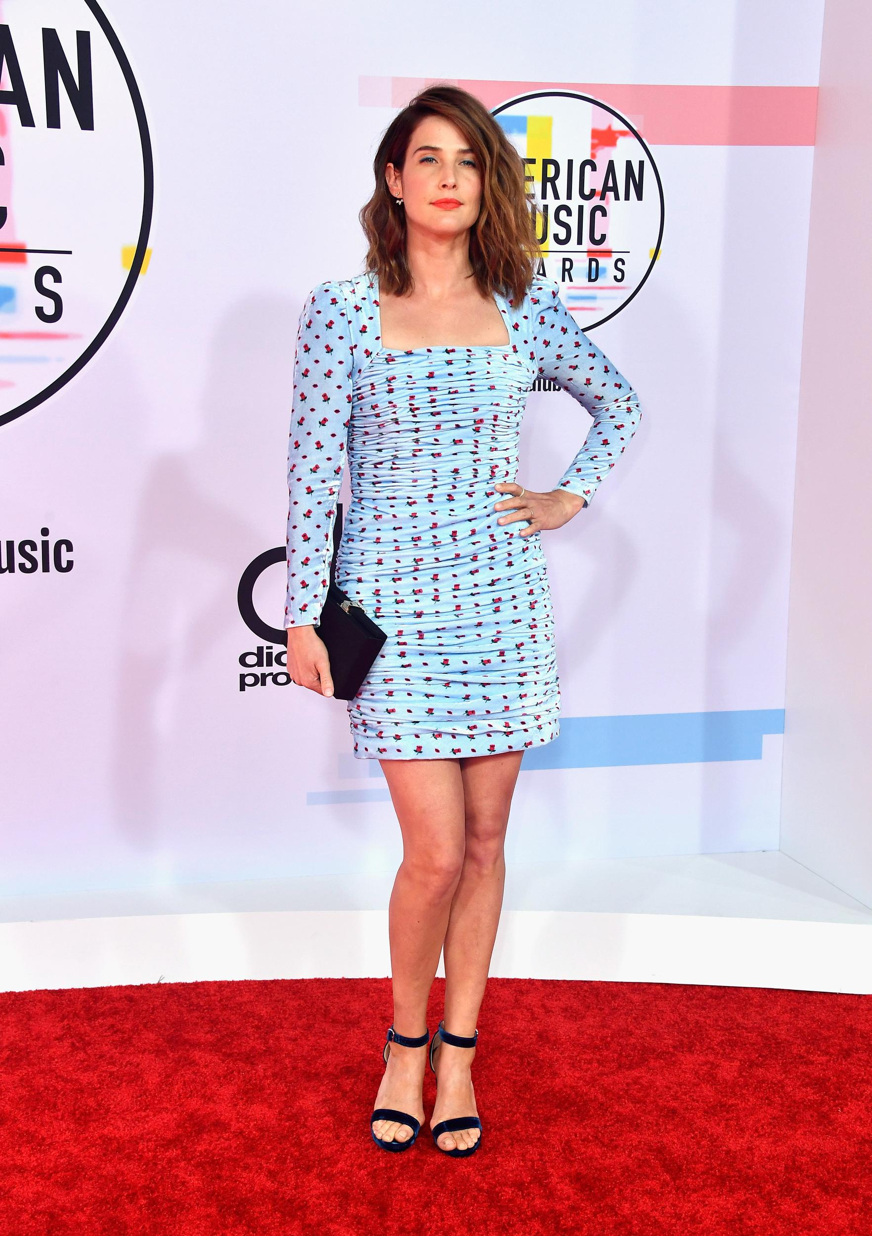 LOS ANGELES, CA - OCTOBER 09:  Cobie Smulders attends the 2018 American Music Awards at Microsoft Theater on October 9, 2018 in Los Angeles, California.  (Photo by Frazer Harrison/Getty Images)