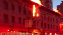 Four-Alarm Fire Rips Through Building in San Francisco's North Beach