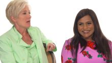 'I completely sweated through the side of my dress': Mindy Kaling, Emma Thompson recall first late-night appearances