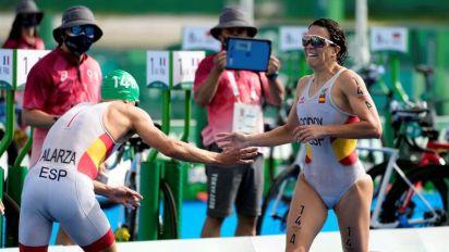 España décima en los primeros relevos mixtos de triatlón