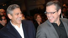 George Clooney Photobombs Matt Damon While Out to Dinner in Venice