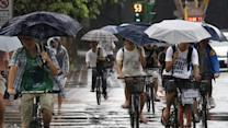 Storms battering Taiwan and Japan
