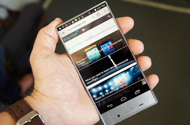 Sharp's all-screen AQUOS Crystal arrives at Sprint