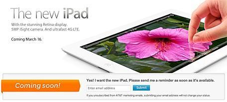 AT&T and Verizon officially announce the March 16 availability of the WiFi + 4G iPad