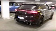 Porsche Cayenne Coupe prototype spied with interesting exhaust