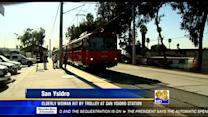 Elderly woman hit by trolley at San Ysidro station