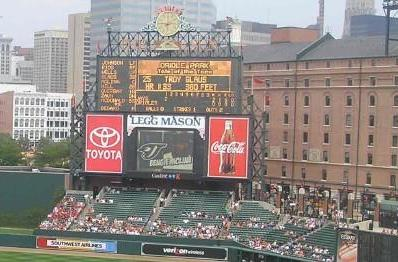 Oriole Park at Camden Yards to get HD scoreboard