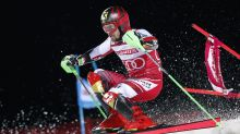 Shiffrin wins city event, locks up World Cup slalom title