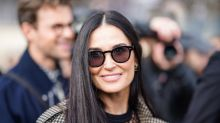 Demi Moore shares photos of her bathroom/lounge/office set up, and fans cannot deal