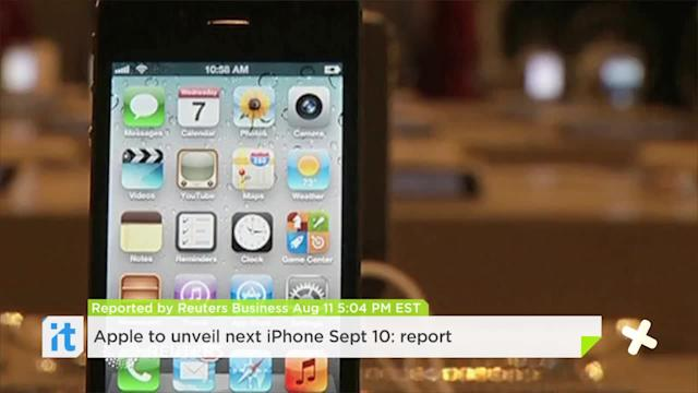 Apple to unveil next iPhone Sept 10: report