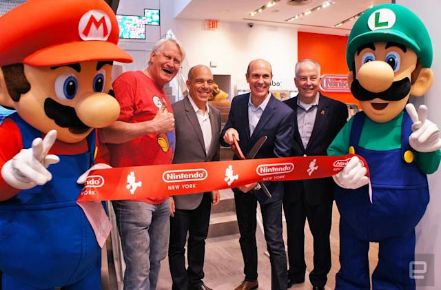 Nintendo's flagship store reopens with a new name and new look