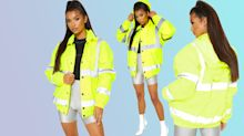 Pretty Little Thing is selling a high vis jacket because safety first