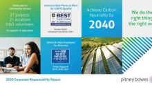 Pitney Bowes Releases 2020 Corporate Responsibility Report