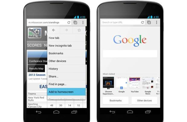 Chrome 31 beta for Android brings home screen shortcuts, search-friendly tabs (updated)