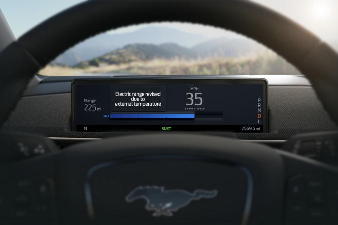 Ford Mustang Mach-E intelligent range feature