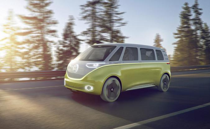 VW's I.D. Buzz concept is a self-driving, electric microbus