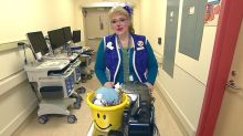 How Sparkle the clown lights up Alberta Children's Hospital in difficult times