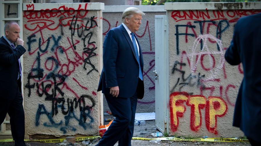U.S. military adviser resigns after Trump's church photo