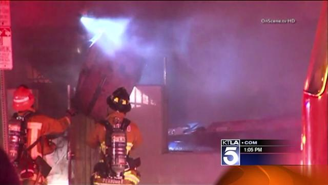 2 Bodies Found After Fire at Compton Auto Shop