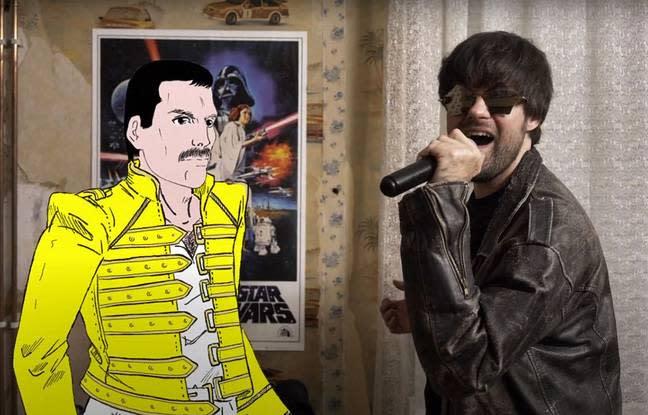 Freddie Mercury en duo avec un groupe lillois
