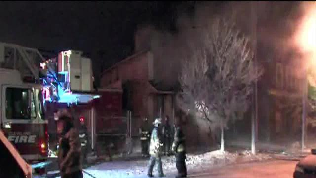Overnight fire at E. 45th Street and Superior Avenue