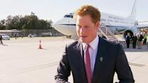 Prince Harry leaves Sydney for Perth