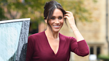 Meghan Markle wears red leather skirt for roundtable discussion at Windsor Castle