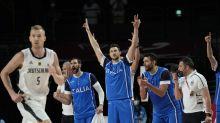 Italy finishes with flourish, beats Germany 92-82