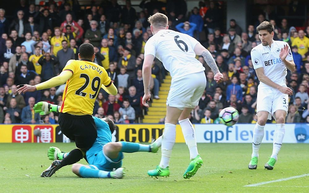 Etienne Capoue scored Watford's winner against Swansea - PA