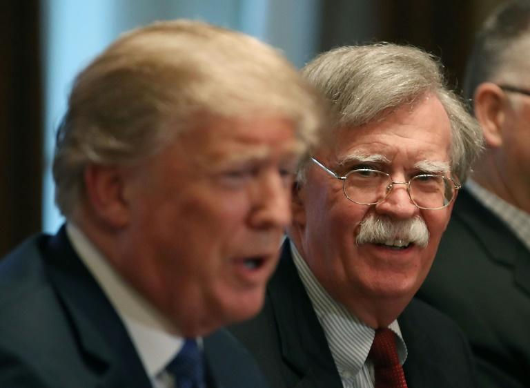 National security advisor John Bolton was a frequent, controversial presence alongside US President Donald Trump (AFP Photo/MARK WILSON)