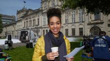 Doctor Who companion Pearl Mackie appears on set