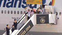 German football team arrives to a hero's welcome in Berlin