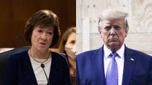 Trump attacks Susan Collins on Fox News as she struggles in the polls against Democratic rival