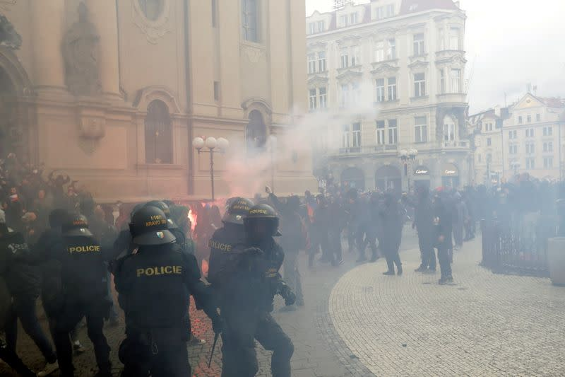 Demonstration against the Czech government's COVID-19 restrictions in Prague