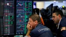 Stocks end flat, U.S. Treasury yields fall after Powell report