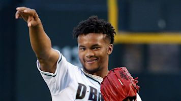Wait, is that Kyler Murray on an MLB field?